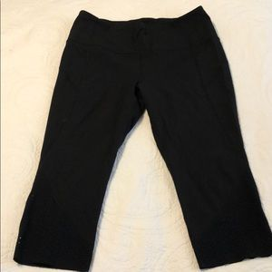 Black hi-rise luluemon leggings, sz. 12